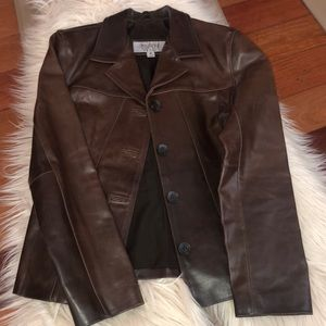 Brown Leather Jacket Wilson's Brand